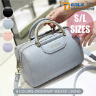 4 Colors New Womens PU Leather Evening Tote Handbag Shoulder Crossbody Bag S/L
