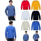 Cotton Men's Plain Sweatshirt Jumper Sweater Pullover Work Casual Leisure Tops