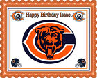 Chicago Bears - Edible Birthday Cake Topper OR Cupcake Topper, Decor $8.95 USD on eBay