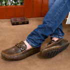 Mens Crack Leather Flat Loafer Moccasins Boat Driving Retro Boot Shoes Comfort