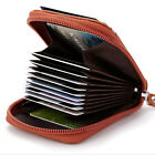 Men Womens Genuine Real Leather Credit ID Business Card Holder Pocket Wallet New
