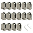 16pcs Stainless Steel 304 Glass Clamp Clip Flat Back Bracket For Handrail 6-12mm