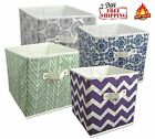 Storage Cube Basket Fabric Drawers Best Cubby Organizer Box Bin 2 Pack 18 Colors