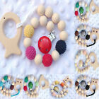 Handmade Dummy Pacifier Baby Chain Teether Clip Wooden Crochet Holder