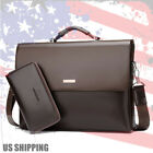 New Business Mens Leather Briefcase Bag Handbag Laptop Shoulder Bag