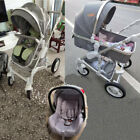 Luxury Baby Stroller 3 in 1 High view Pram foldable pushchair bassinet&Car Seat