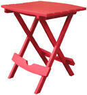 Adams Mfg 8500-26-3735 Patio Side Table, Quik Fold, Resin, Cherry Red