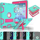 Heavy Duty Shockproof Rubber Hard Kickstand Case Cover For Apple iPad mini Air