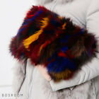 BOSROOM Women fashion real Fox fur colorful pouch clutch mini bag purse 4color