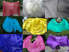 "1pc 2.7m*1.1m (3yd*45"") plain color light 5mm belly dance silk veil,rolled edges"