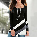 Fashion Blouse Loose Cotton Blouse Tops Women Casual Long Sleeve T-Shirt