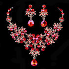 BRIDAL WEDDING PARTY JEWELRY CRYSTAL RHINESTONE DIAMANTE NECKLACE EARRINGS SETS