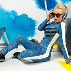 Damenoverall Overall Einteiler Jeans Catsuit Jeansoverall 32 34 36 38 #O106