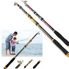 SuperStrong Carbon Fiber telescopic Fishing Rod Travel Spinning Pole Sea 2.1m