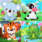Gift for Kids Wooden Educational Toys Cartoon Animal Baby Jigsaw Board Puzzle