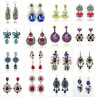Women Fashion Boho Bohemia Dangle Opal Rhinestone Ear Studs Earrings 1Pair