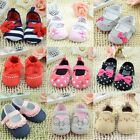 New Infant Newborn Toddler Baby Boy Girls Cotton Soft Sole Crib Shoes 0-18M