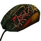 Small Special Shaped 3 Buttons USB Wired Luminous Gamer Computer Gaming Mouse#Y