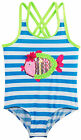 Wippette Baby Girls All Over Stripes with Sequin Fish One Piece Swimsuit