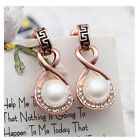 18K gold Plated White gold plated Pearl Earrings jewelry jewellry Australia