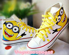 MINIONS Hand Painted Women & Men Boots Sneaker Sport Shoes Canvas Casual