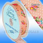 Wired Vintage Ribbon Eleganza 25mm & 38mm Luxury Flower Dot Pinks Blues green