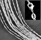 "Wholesale 10pcs/lots 925 Sterling Silver 1.4mm Wave Chain Necklace 16""-30"""