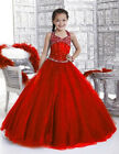 Flower Girl Dresses for Pageant Prom Party Birthday Wedding Bridesmaid Ball Red