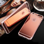 Luxury TPU Silicone Ultra-thin Mirror Case Cover For Apple iPhone Models
