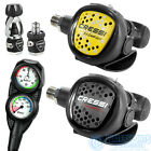 CRESSI MC5 XS COMPACT REGULATOR SET. 1ST & 2ND STAGE WITH OCTOPUS & GAUGES