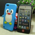 Cute Penguin Silicone Gel Back case cover for Apple ipod Touch 5 5th 6 6th