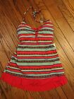 New! Mainstream Swimdress Swimsuit - Red Aztec Stripe   $68.00