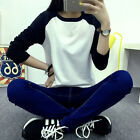 New Women Loose Long Sleeve Cotton Casual Blouse Shirt Tops Fashion T-shirt HFUS