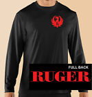 Long Sleeve T-Shirt, Gun Control, Political, Weapons, Ruger, Cotton Blk. Gildan image