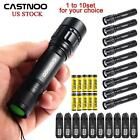 1 to 10x 6000 LM CREE T6 LED Flashlight Torch +Rechargeable Battery +Charger KJ
