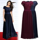 Women's Retro Lace Formal Cocktail Evening Party Wedding Prom Long Full Dress