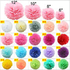 10 Pack Mixed Tissue Paper Pompoms Wedding Party Decoration Pom Poms Ball 4 Size