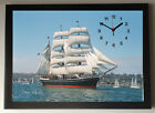 Star of India Sailing Ship A4 Picture Clock