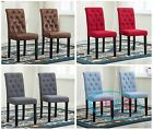 Linded Fabric Dining Chairs With Solid Wooden Legs home & commercial restaurants