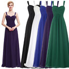 Long CHIFFON Bridesmaid Dress Cocktail Formal Evening Party Prom Masquerade Gown