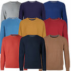Marks & Spencer Mens Textured Jumpers New M&S Crew Neck Cotton Sweater Pullover