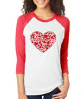 HEART OF HEARTS cute fun love Valentine's Day Women's 3/4 Sleeve T-Shirt