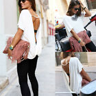 Fashion Women Summer Loose Casual Backless Vest Shirt Tops Blouse Ladies Tops w3