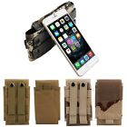 Universal Army camo Belt Pouch Case Cover Holster Loop Hook Bag For Mobile Phone