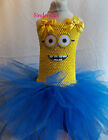 Minions Despicable Me 'Inspired' Tutu Dress 3-12 Fancy dress Costume  Handmade