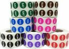 Days of the Week Circle Stickers, 1/2 Inch Round, 1000 Labels, Mon - Sun