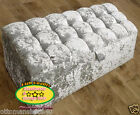 "Ottoman Storage Box,Crushed Velvet,Diamante,small 30""/large 40"", Bespoke size's"