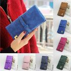 Matte Grind Arenaceous Clutch Bag Handbag Carry Long Purse Women's Wallet