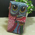 OWL Angel Fly Feather Wallet Card Holder flip case cover for LG Phone