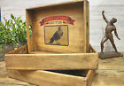 Bruton Somerset Vintage Wooden Serving Tray Single Amors Crow